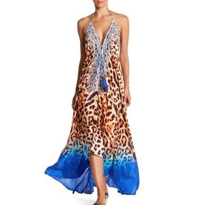 Dresses & Skirts - EMBELLISHED LEOPARD PRINT HI-LO MAXI DRESS